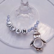 Penguin Personalised Wine Glass Charm